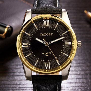 YAZOLE 348 Luxury Business Men Wrist Watch Fashion Leather Male Quartz Watch