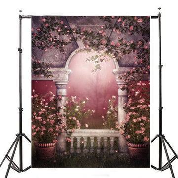 1.5x2.1m Photography Vinyl Background Garden Pots Romantic Wedding Props