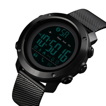 SKMEI 1462 Calories Pedometer Call Message Reminder Remote Camera Milanese Strap bluetooth Smart Watch
