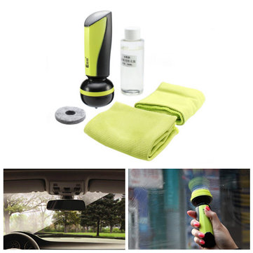 100mL Car Windscreedn Anti Fog Agent Defogging Spray Set with Cleaning Brush Towel