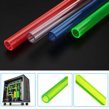 50cm/19.7'' Water Cooling Rigid Tube Easy to Cut Green/Red/Blue/Transparent For PC Case
