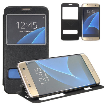 Flip PU Leather Wallet Stand Cover Case For Samsung Galaxy S7