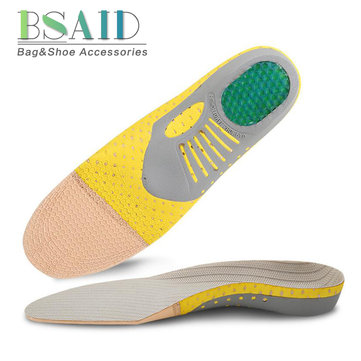 Functional Arch Insole Shock Absorption Orthopedic Pad for Running Sporting Foot Pain Relieve Shoe Pads