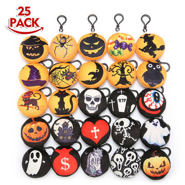 Halloween Party Home Decoration Supply Black Plastic Doll Buckle For Kids Children Gift Toys