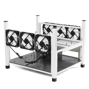 6GPU Miner Frame Coin Miner Mining Machine Frame Case High Speed Fan