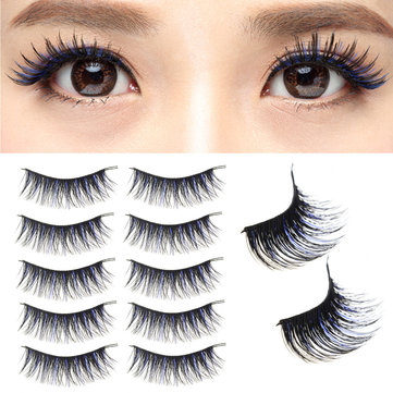 Pro 5 Pairs 100% Handmade Thick 3D Mink Fur Long False Eyelash Eyelashes Makeup Extension