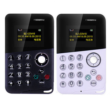 BAKEEY M8 0.96 Inch OLED 320mAh MP3 Bluetooth Student Pocket Mini Card Phone