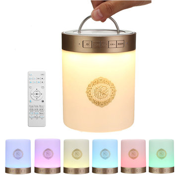 Quran 771.029 Draagbare LED Touch Lamp TF Kaart AUX Muliple Talen Bluetooth Speaker