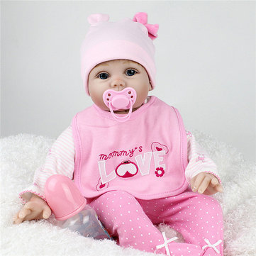 55cm 3D Realistic Reborn Infant Baby Toy Lifalike Doll Silicone And Cotton Body Baby Dolls