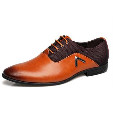 Мы размер 6.5-10.5 мужчин бизнес кожаные ботинки удобные вскользь острым носом мягкие кожаные ботинки