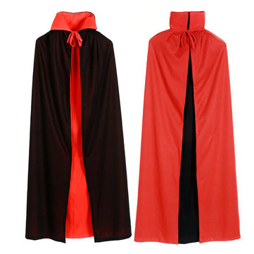 Halloween Vampire Cloak Adult Kids Dracula Devil Cape Cosplay Reversible Costume