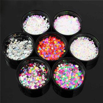 7 Colors Holo Glitter Nail Art Decoration Powder Dust Manicure Design DIY Rhinestone Shiny