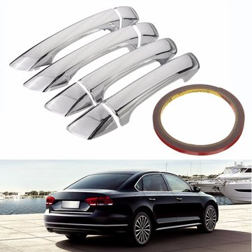 Car Door Handle Cover Trim Chrome Kit for VW Passat B6 3C CC 2006-2010 07 08 09