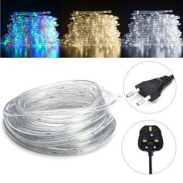 10M SMD3014 Colorful Warm White White Waterproof Flexible LED Tape Ribbon Strip Light AC220V