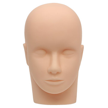 Silicone Mannequin Flat Head Makeup Practice Extension Model