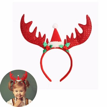 Christmas Party Elk Headbrand Head Hair Hoop Creative Decorations Costume Gift