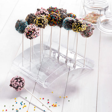 Lollipops Holder Plastic Stand Display 20 Holes Transparent Shaft Support Cake Pop Stand Acrylic