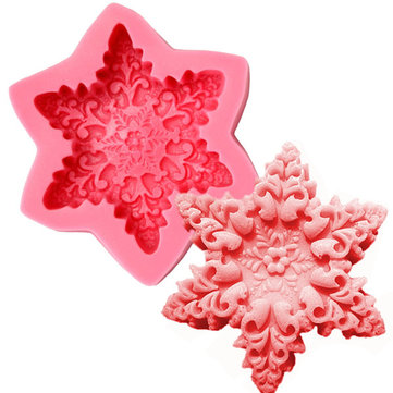 Christmas Snowflake Soap Mold Fondant Cake Decorating Silicone Mould Baking Molds