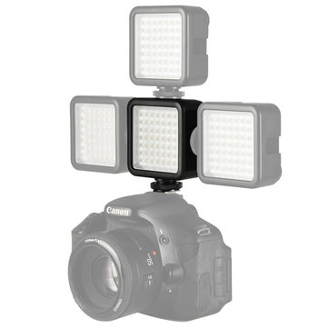Ulanzi W49 Mini Camera LED Video Light Interlock with 3 Hot Shoe Mount