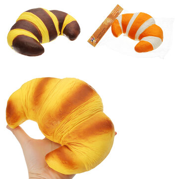 Squishy Fun Jumbo Croissant Squishy Bread Super Slow Rising 18x12cm Squeeze Collection Toy Fun Gift