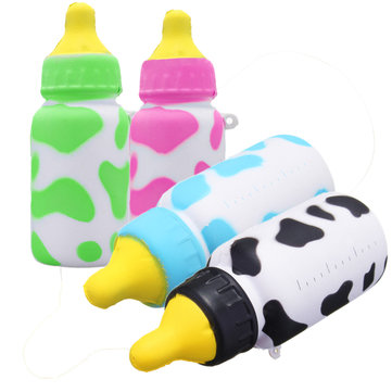 10X5CM Cute Milk Bottle Model Squishy Toys Stress Reliever Phone Chain Hang Decorations