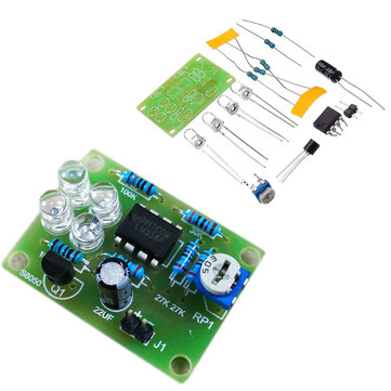 LM358 Breathing Light Parts Electronic DIY Blue LED Flash Lamp Electronic Production Kit