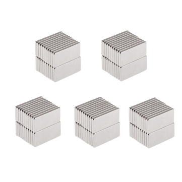 100pcs N50 20x10x2mm Neodymium Block Magnet Oblong Super Strong Rare Earth Magnets