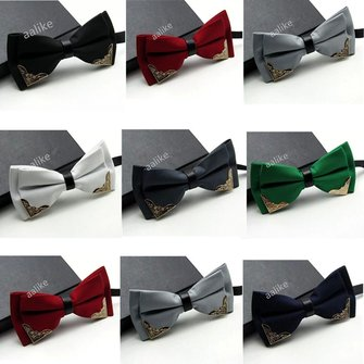 Men Bow Ties Wedding Tuxedo Novelty Bowknot Adjustable Necktie