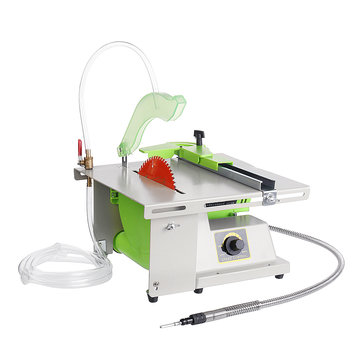 1380W 220V Multifunction Table Saw Jewelry Rock Polishing Bench Lathe Polisher Drilling Machine DIY