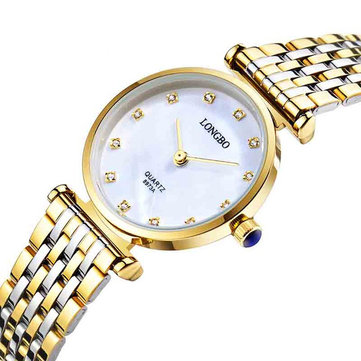 LONGBO 8973 Diamonds Casual Style Gift Couple Watches