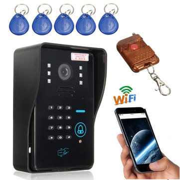 SYSD Smar tWireless WiFi Remote IR Video Camera Intercom Door Phone Doorbell Rainproof