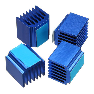 4PCS 14*13*20mm Cooling Heatsink With Back Glue For TMC2100/2130/2208 Stepper Motor Driver 3D Printer Part