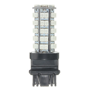 Single T25 3157 3528SMD DC12V 270LM 4000-4500K Amber 68LED Car Stop Tail Brake Lights Bulb Lamp