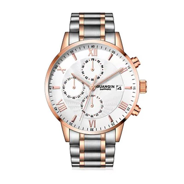 GUANQIN GS19094 Quartz Watch Calendar Business Style Watch Men Sport Stainless Steel Strap Watch