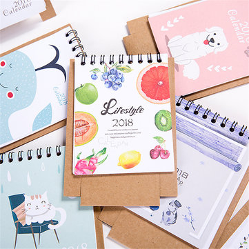 1 Pcs 2018 Mini Cartoon Calendar Lovely Creative Cute Table Calendar Desk Calendar Office School