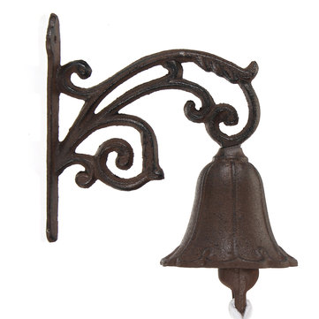 Cast Iron Boat Verdigris Doorbell Vintage Garden Rustic Wall Decorative Doorbell