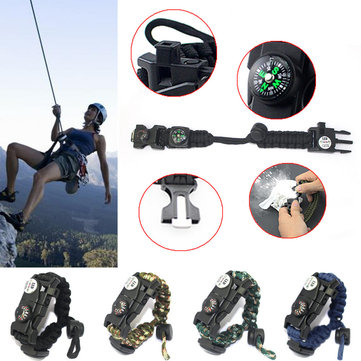 Outdoor Tactical Survival Bracelet Military Paracord Sport Swimming Wristband Emergency Paracord