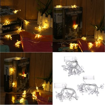 Battery Powered 10LEDs Warm White Flamingo Unicorn Deer Fairy String Light for Christmas