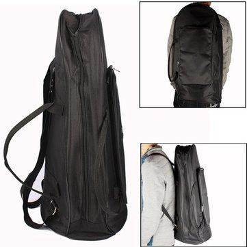 Una bolsa protectora de tela oxford bombardino con negro de la correa