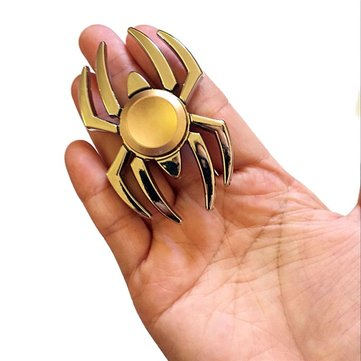 Spider Shape Gold Fidget Hand Spinner ADHD Autism Reduce Stress Focus Attention Toys