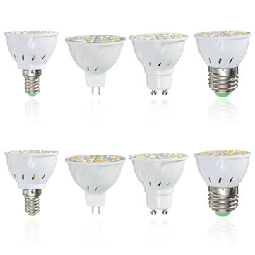 E14 E27 GU10 MR16 AC85-265V 3.5W 24 SMD 5730  Pure White Warm White LED Spot Lightt Bulbs 350LM