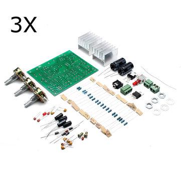 3本Geekcreit®12V 30W DIY TDA2030Aデュアルトラックパワーアンプボードキット