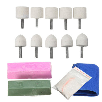 14pcs Polishing Kit Wool Polishing Wheel for Aluminium Brass Copper Alloys Metal