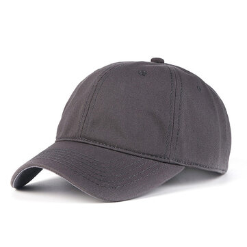 Cotton Pure Color Peaked Cap Classic Outdoor Adjustable Sun