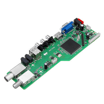5 OSD Game RR52C.04A Support Digital Signal DVB-S2 DVB-C DVB-T2/T ATV Universal LCD Driver Board Dual USB Play Media Module
