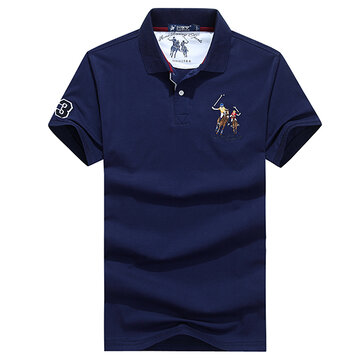 Men's Cotton Lapel Collar Golf Shirt
