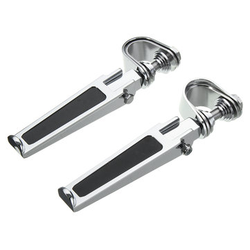 1inch 1-1/4inch Universal Highway Motorcycle Chrome Clamp On Foot Pegs For Haley/Honda