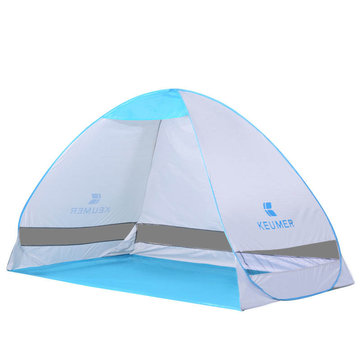 Outdoor Double 2 Persons Camping Tent Automatic Quick Open Single Layer Beach UV Sunshade