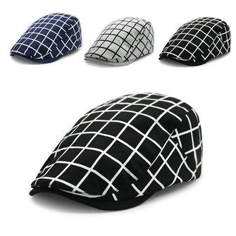 Protezione piana del cappello di griglia del cotone berretto a becco d'anatra edera strillone tassista Gatsby cappelli di guida degli uomini delle donne