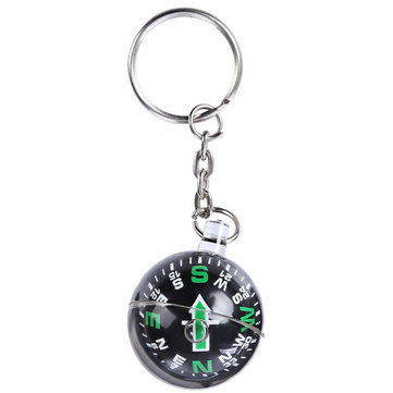 6Pcs Ball Keychain Keyring Liquid Filled Compass for Camping Hiking Traveling Outdoor